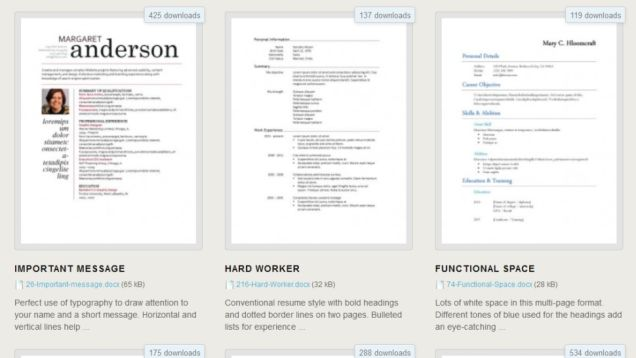 Download 275 Free Resume Templates for Microsoft Word ...